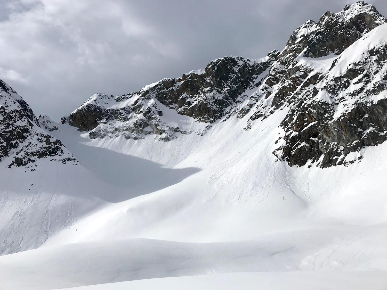 Blick zum Ziel, Wechnerscharte Tirol