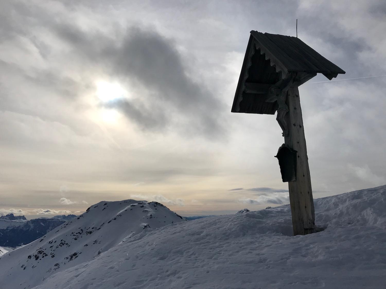 Gipfelkreuz Gaishorn, Skitour Schaldererhorn