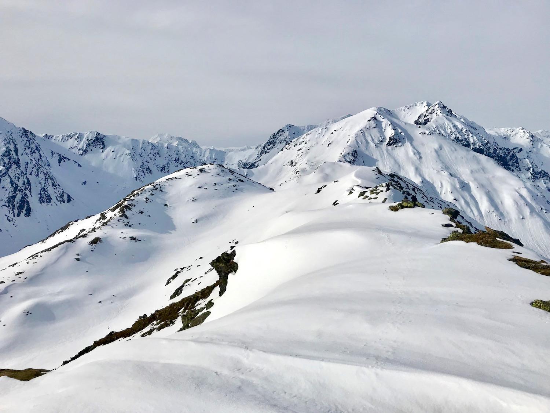 Ausblick am Gipfel, Angerbergkopf Senderstal