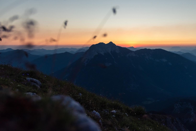 Sonnenaufgang Hochunnütz, Achensee Tirol