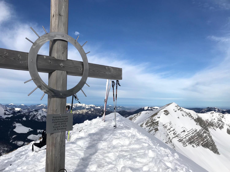 Gipfelkreuz aus Holz, Vorderunnuetz Achensee