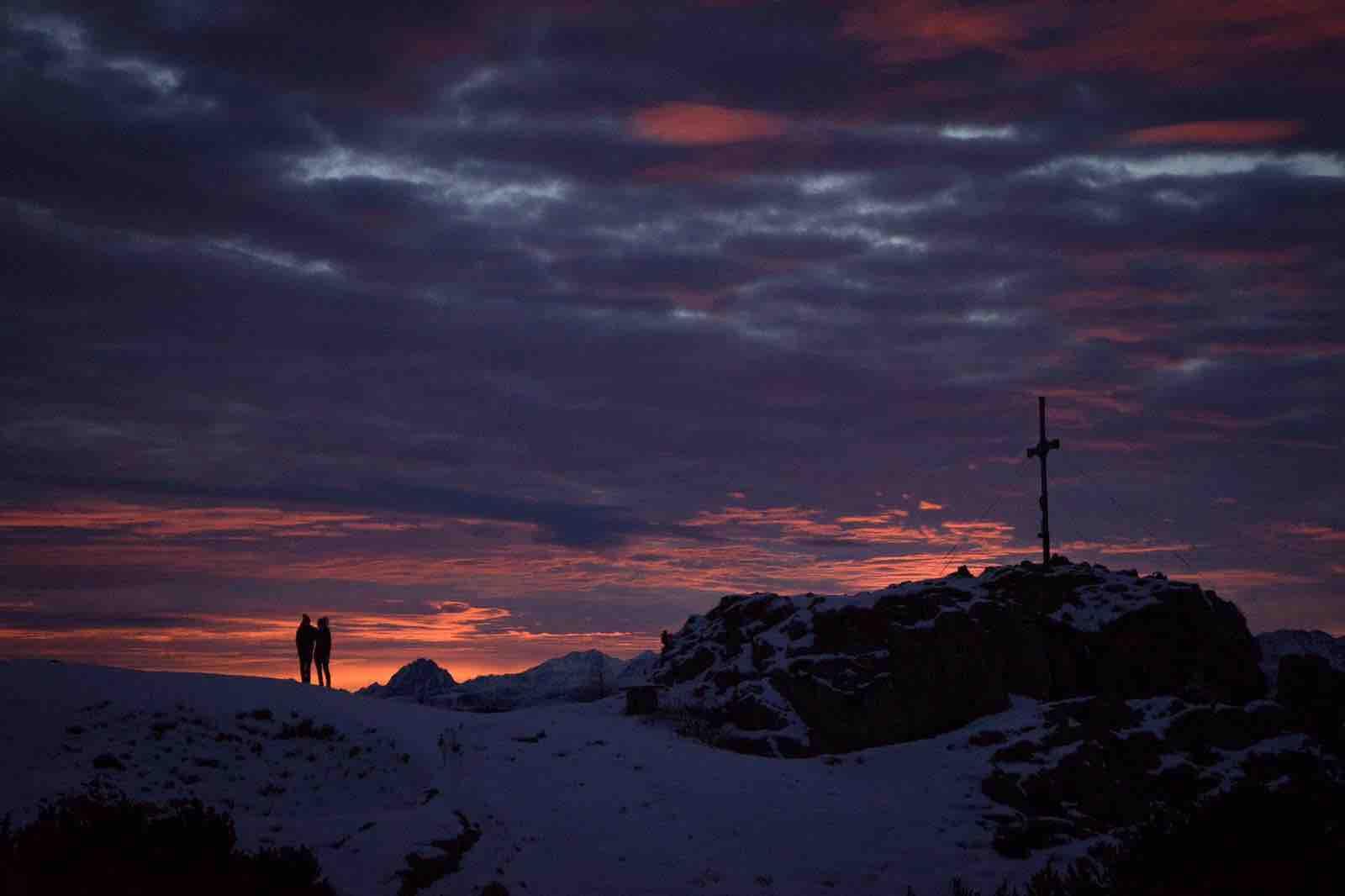 Gipfelstuermer auf der Gratlspitze, Sonnenaufgangstour Alpbachtal
