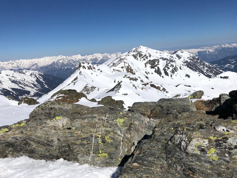 Steine am Gipfel, Torspitze Wattener Lizum