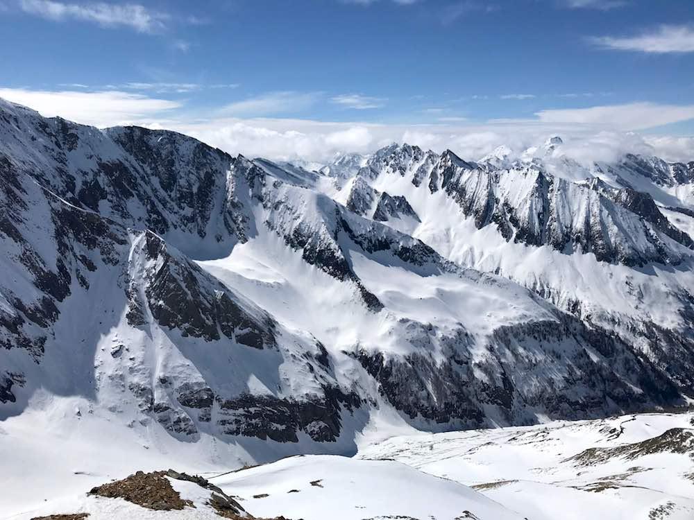 Bergketten schneebedeckt, Pfitschertal Südtirol