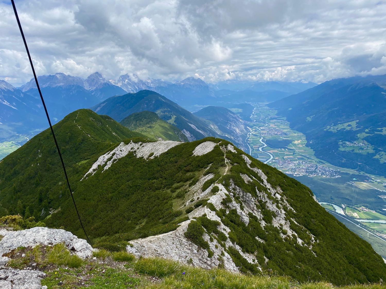 Gipfelgrat und Inntal, Bike & Hike Tschirgant, Tirol