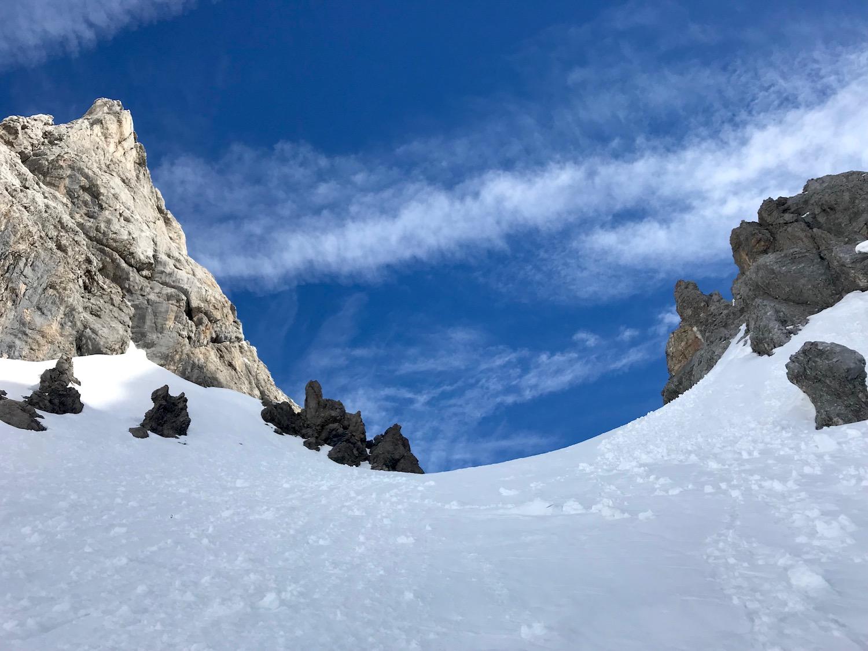 Felsen unter blauem Himmel, Gruensteinscharte Biberwier