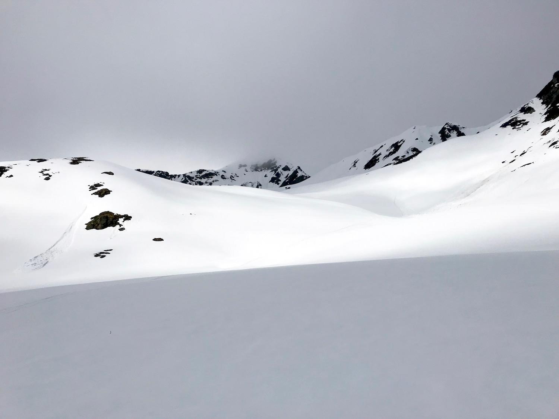 Weisse Schneehaenge, Wetterkreuzkogel Kuehtai