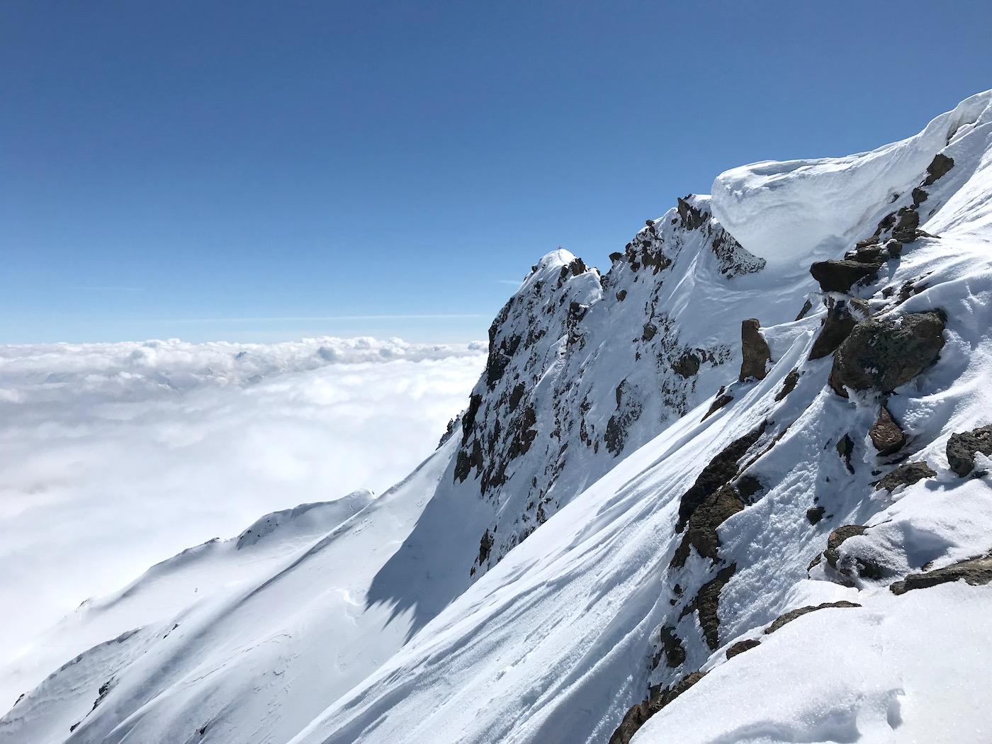 Gipfelzustieg bei Tiefennebel, Aglsspitze Pflerschtal