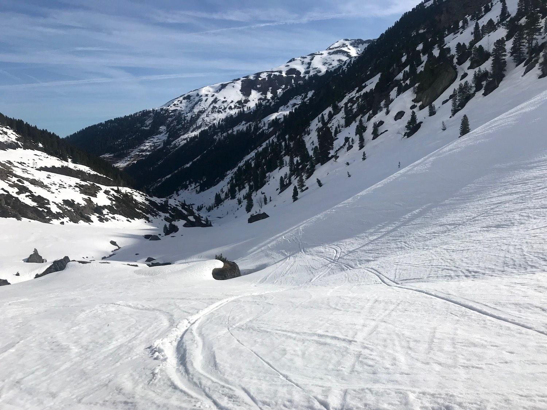 Abfahrtsspuren, Skitour Ochsenkopf Kelchsau