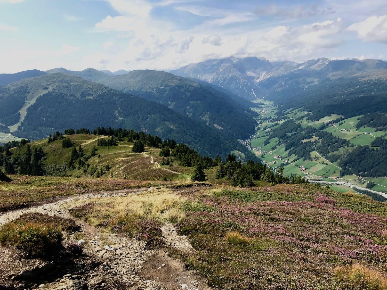Blick in das Tal, Padauner Kogel