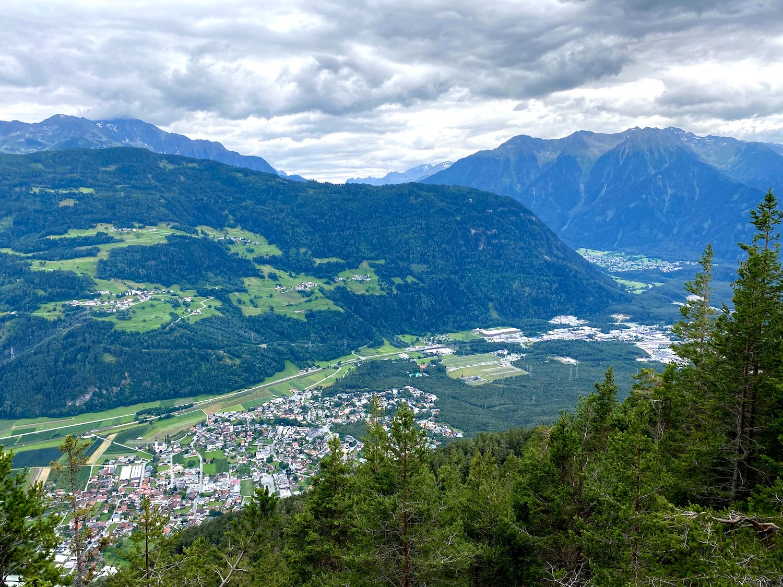 Blick auf das Inntal, Bike & Hike Simmering, Tirol