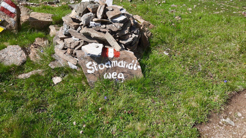 Stoamandlweg Wegweiser, Hammerspitze Tirol