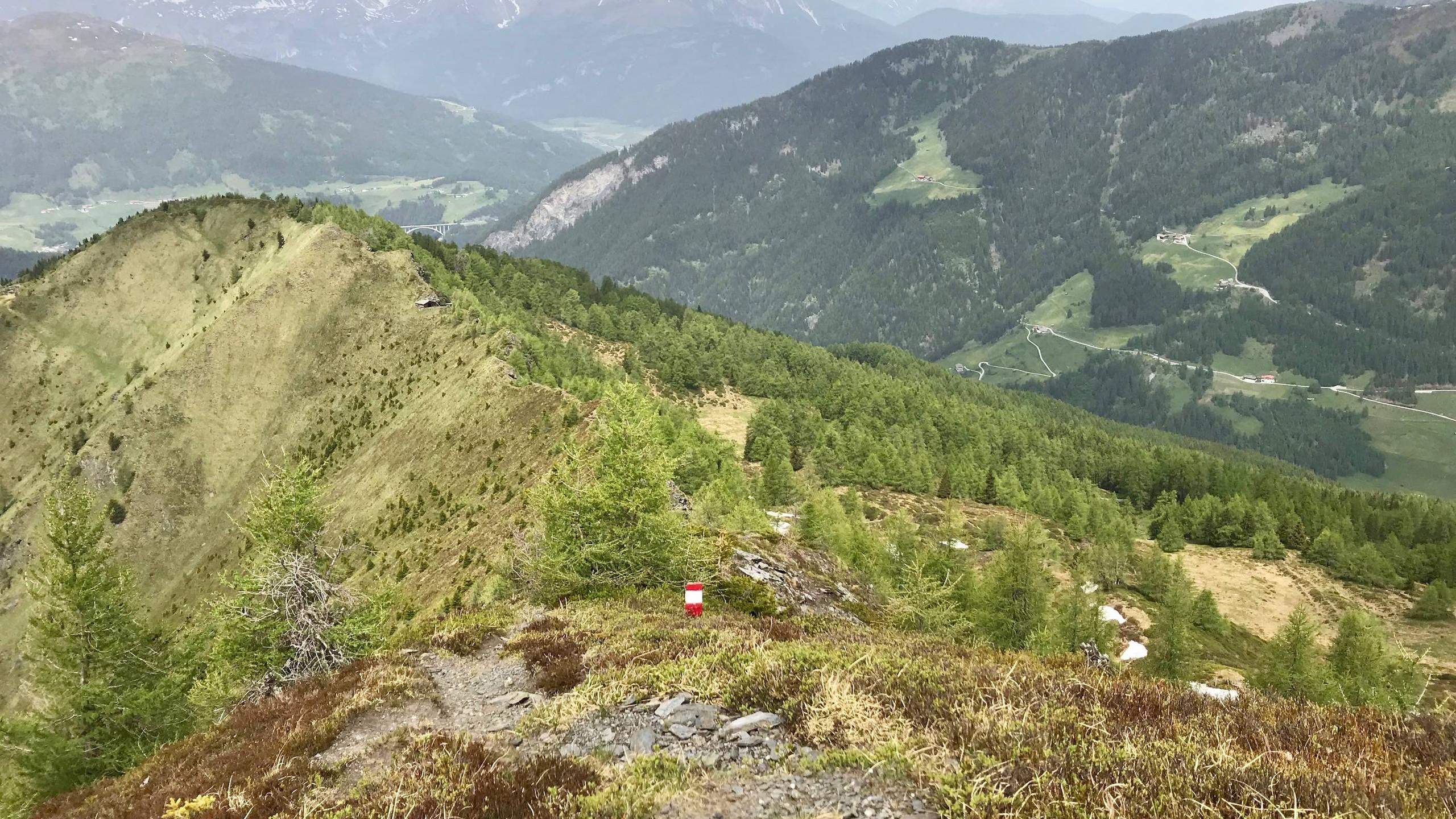 Retourweg Ottenspitze, Biketour Schmirntal