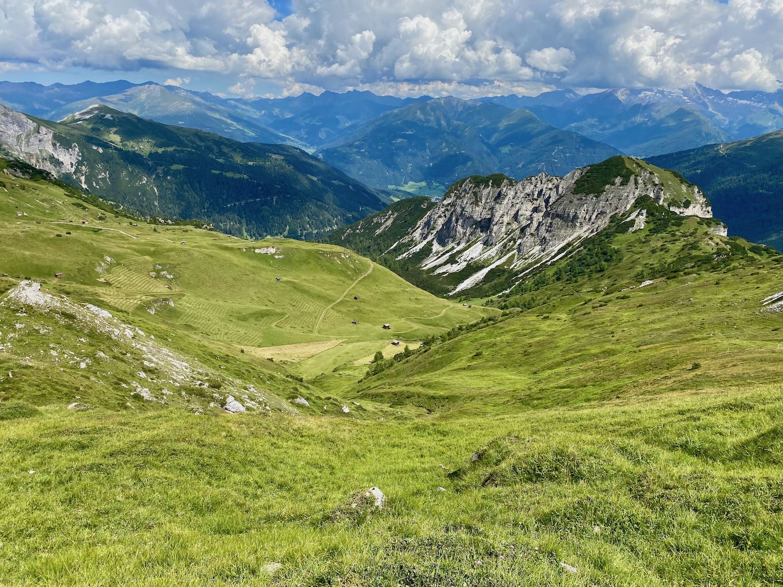 Blick vom Padasterkogel, Gschnitztal Tirol
