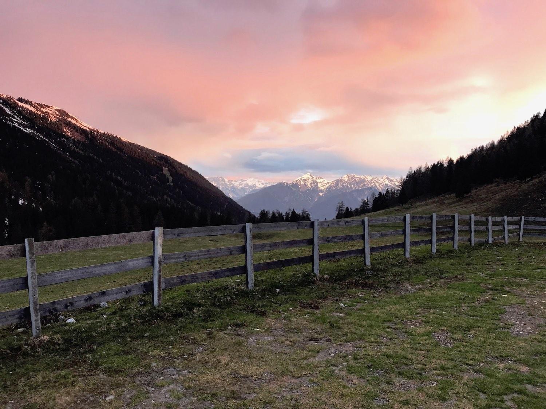 Rosa Himmel Morgenstimmung, Gamskogel Senderstal
