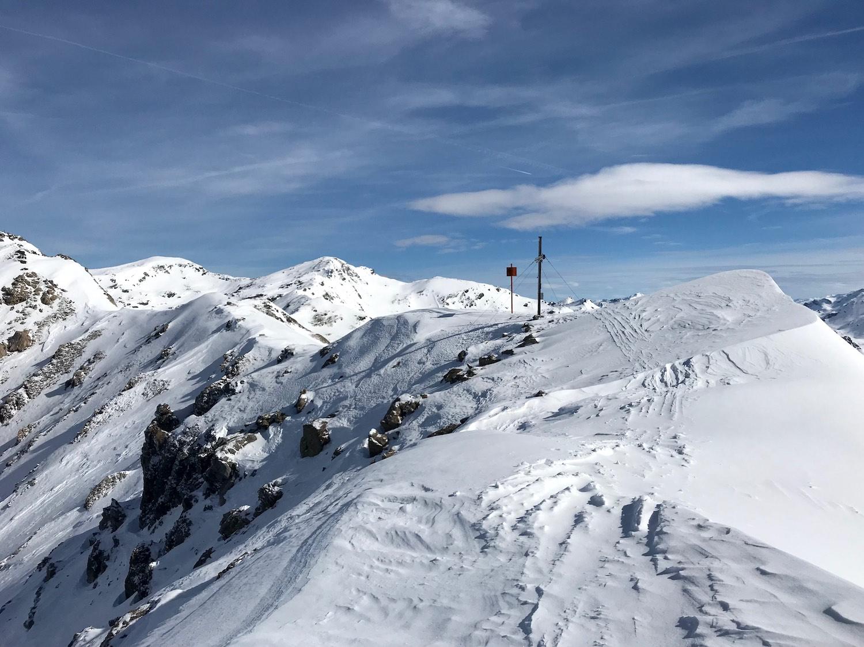 Wechte kurz vor dem Gipfel, Skitour Mislkopf