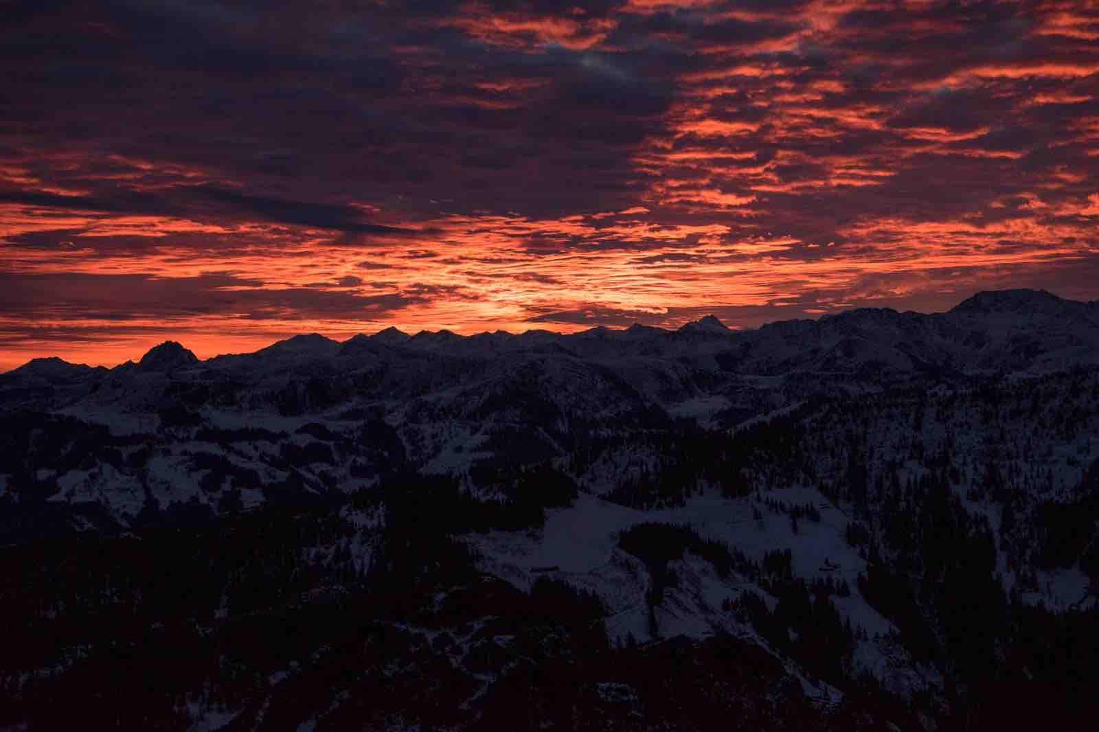Buntes Wolkenmeer, Sonnenaufgangstour Alpbachtal