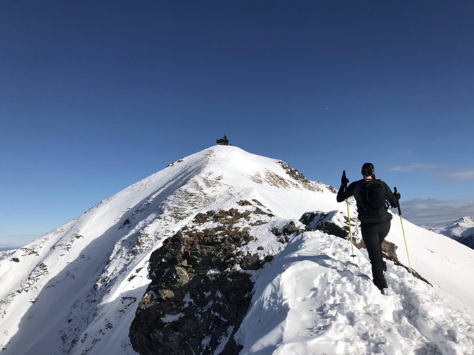 Aufstieg zum Gipfel, Skitour Kellerjoch