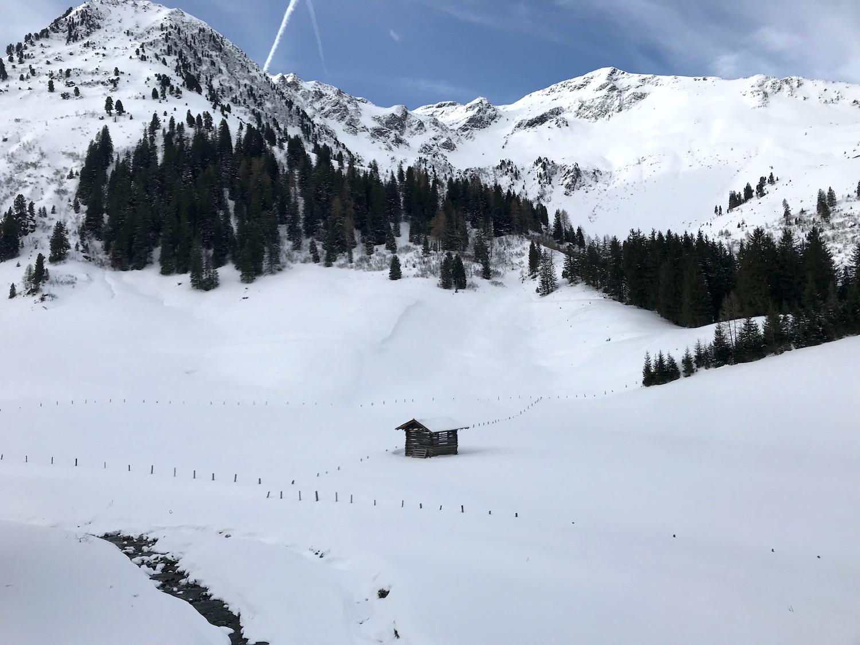 Kleine Holzhuette am Weg, Kleiner Beil Alpbachtal