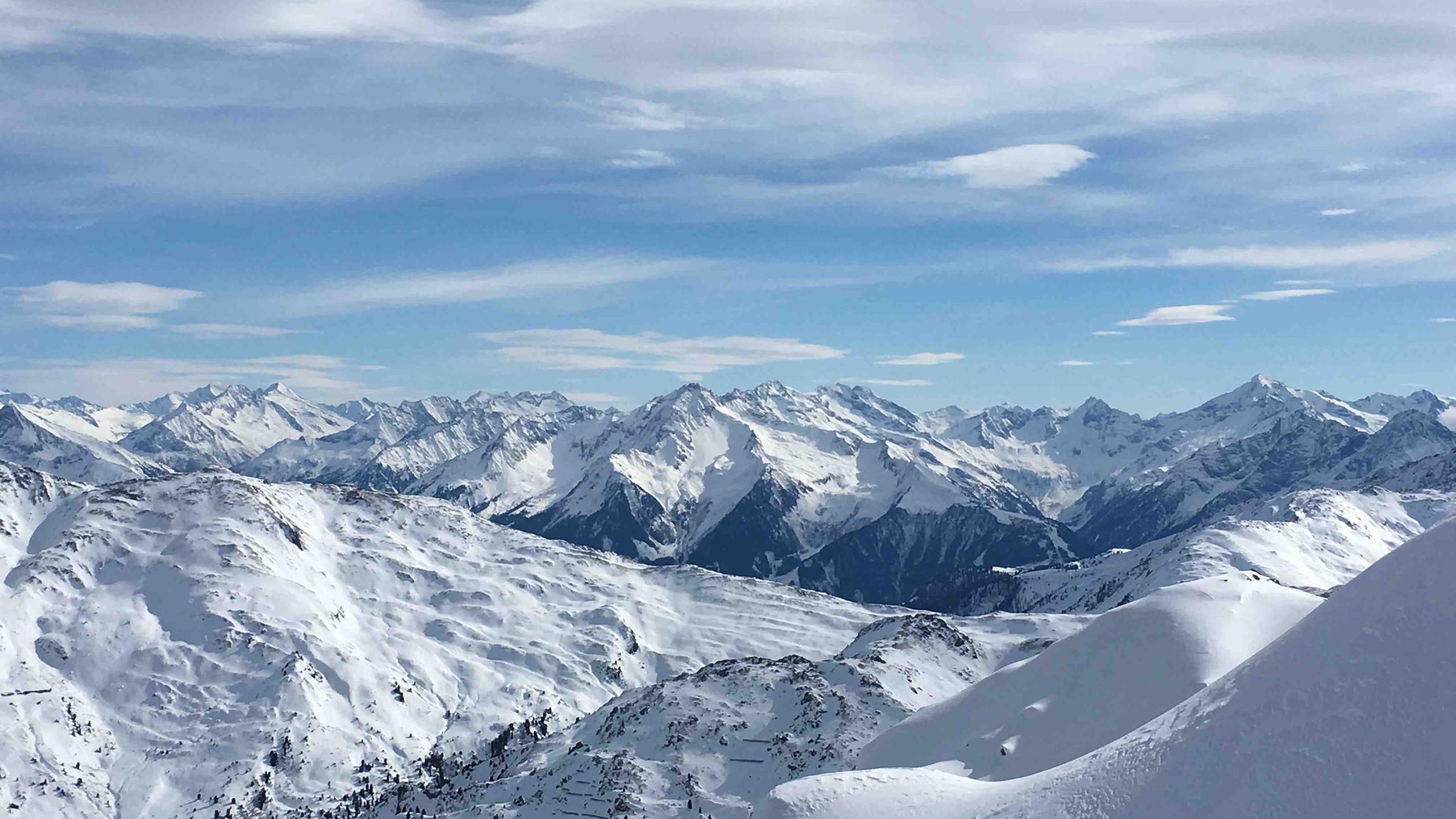 Aussicht am Gipfel, Skitour Gilfert