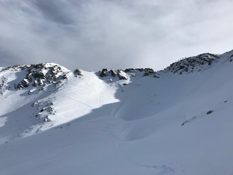 Steiler Hang am Schluss mit Spitzkehren, Kleiner Beil Alpbachtal