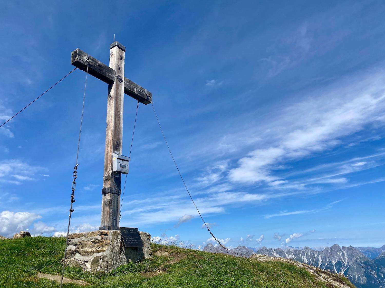Gipfelkreuz Hammerspitze, Gschnitztal Tirol