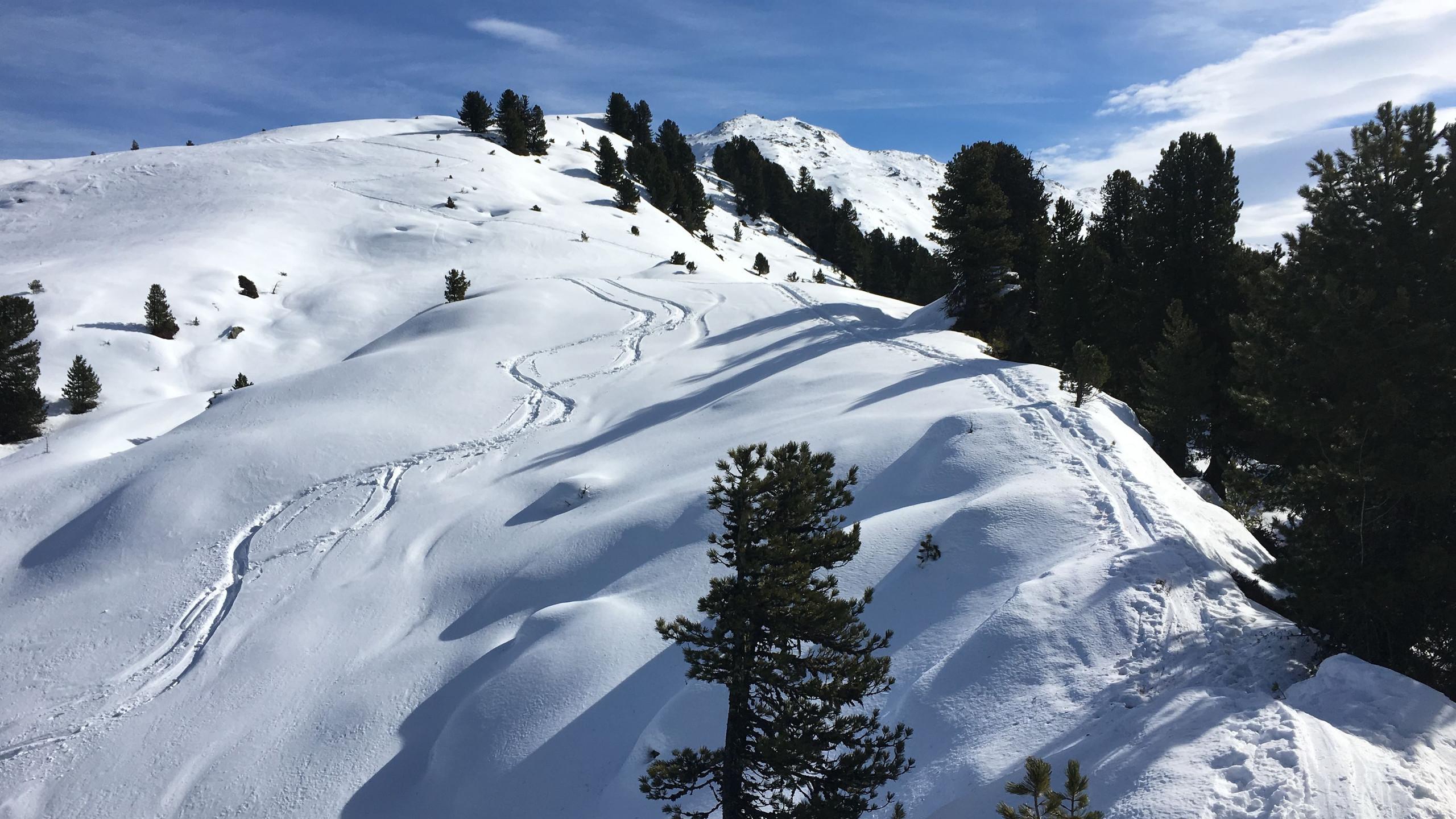 Spuren und Spitzkehren, Skitour Gilfert