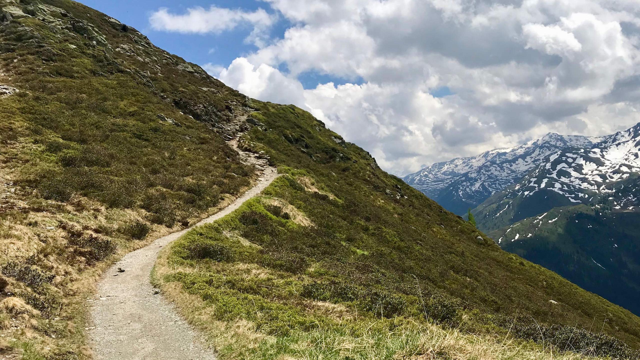 Mountainbike Trail mit Panorama, Biketour Kellerjoch