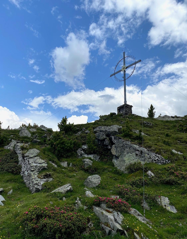 Gipfelkreuz, Bergtour Largoz, Tirol