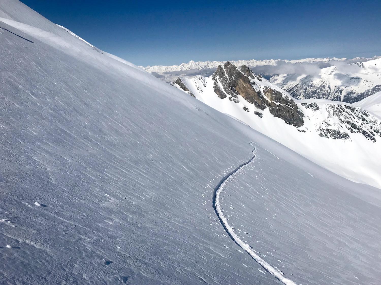 Aufstiegsspur Tiefschnee, Kleiner Kaserer Schmirntal