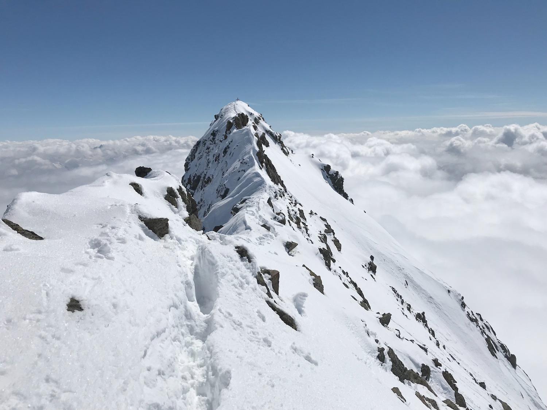 Gipfelkreuz in Sicht, Aglsspitze Pflerschtal