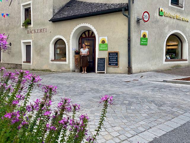 Außenansicht, Bäckerei Liebe Sonne Hall in Tirol