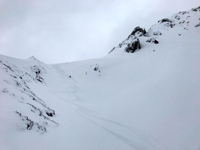Abfahrtsfreude Tiefschnee, Schoeberspitzen Schmirntal Tirol