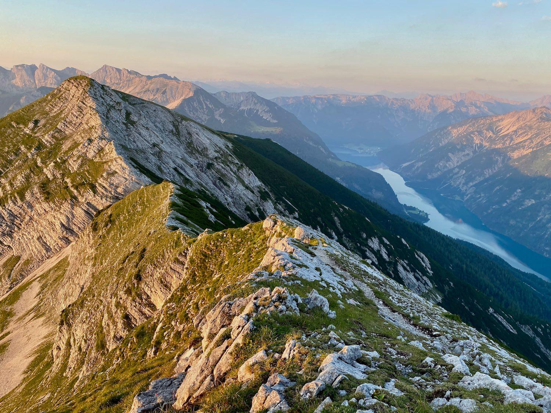 Blick auf dem Achensee vom Hochunnütz, Tirol