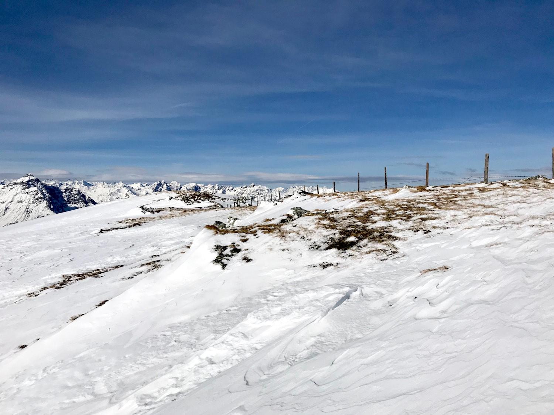 Zaun bei Aufstieg, Skitour Mislkopf