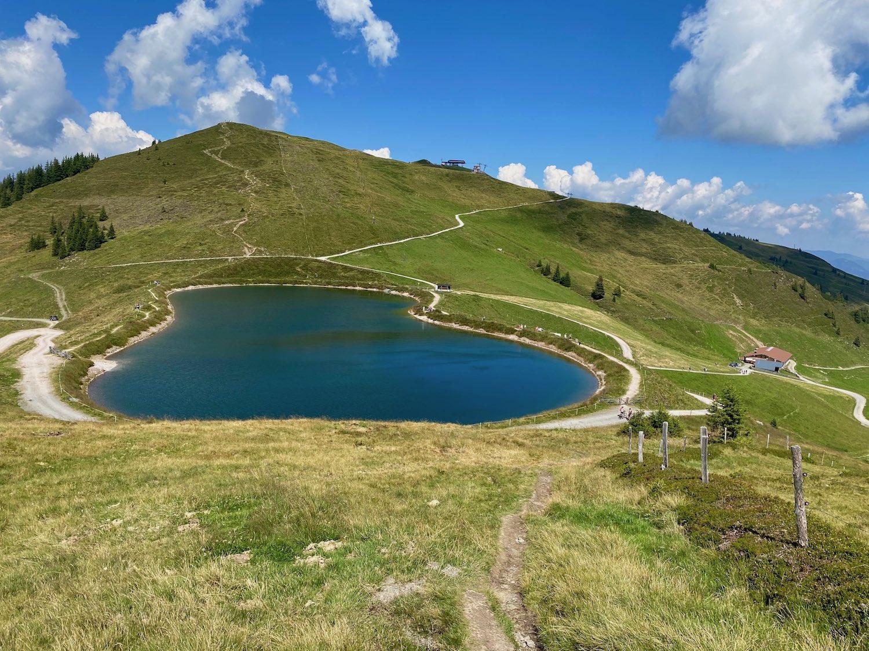 Speichersee bei der Joelspitze im Alpbachtal, Tirol