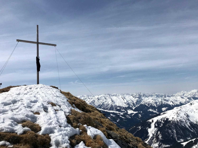 Gipfelkreuz, Skitour Ochsenkopf Kelchsau