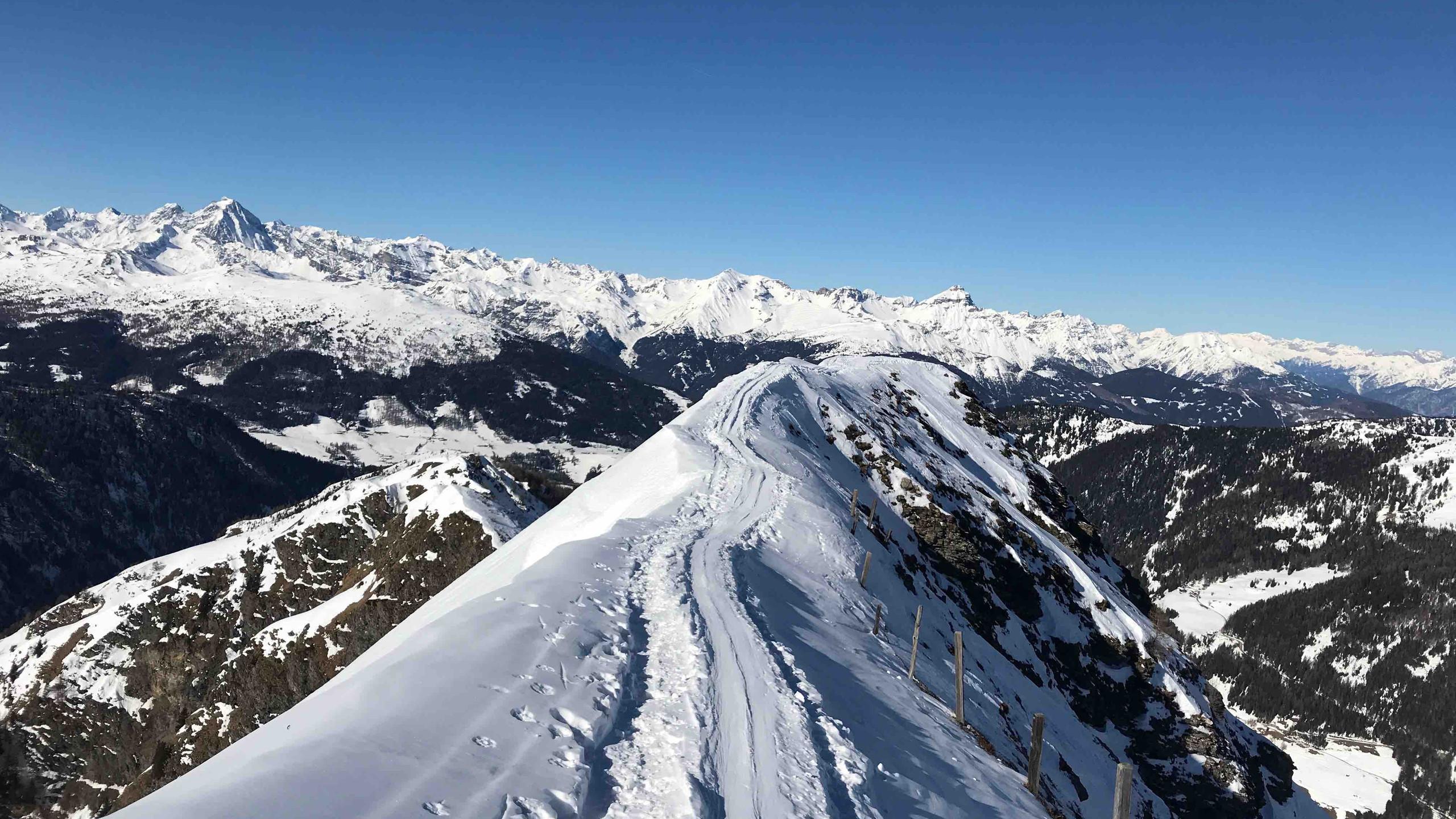 Grad zwischen Windbichl und Riepenspitze, Skitour Riepenspitze