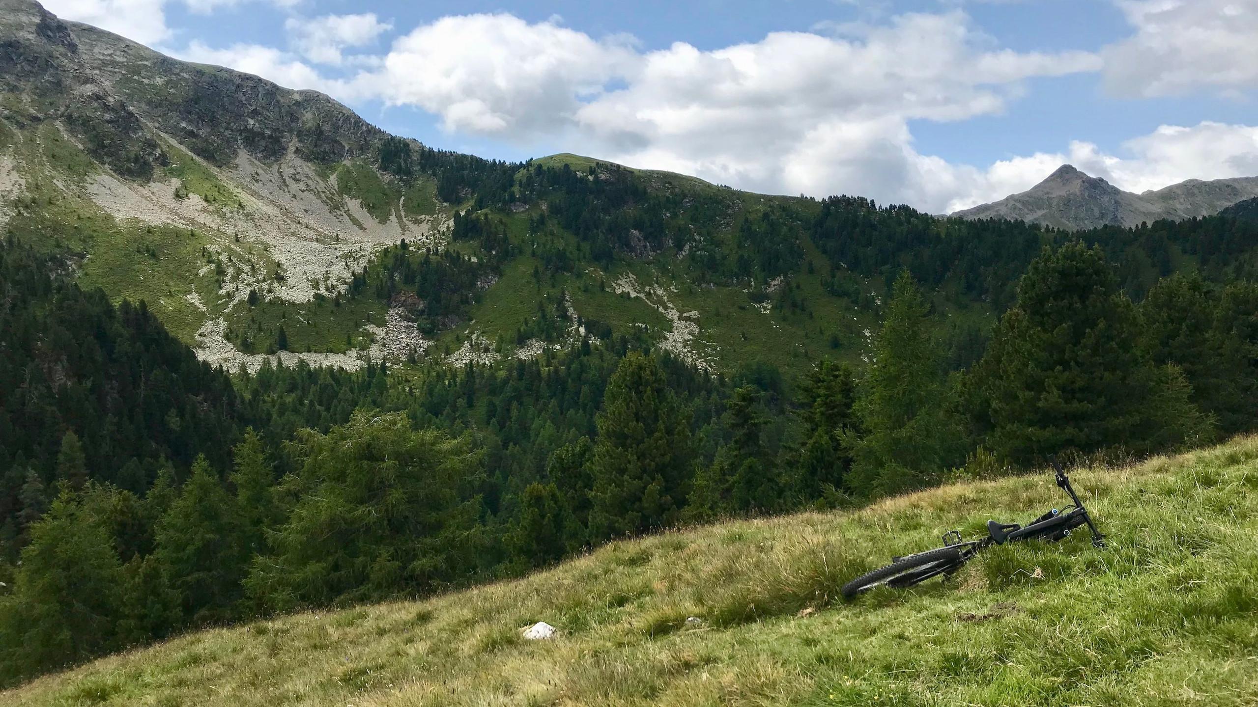 Ausblick am Seenock, Biketour Vahrn