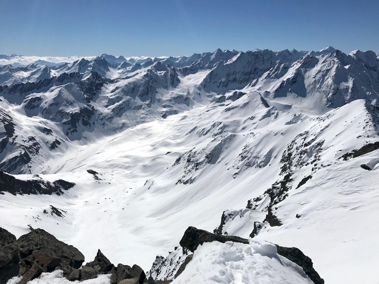 Bergpanorama, Zwieselbacher Rosskogel Sellraintal