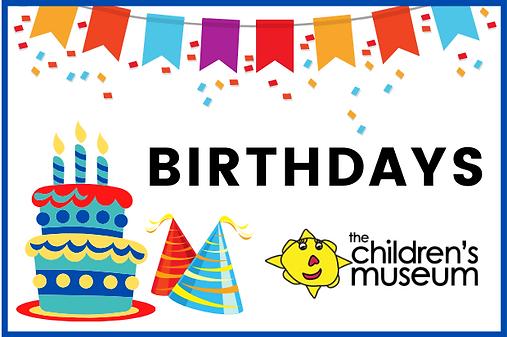 Birthdays at the Children's Museum post.