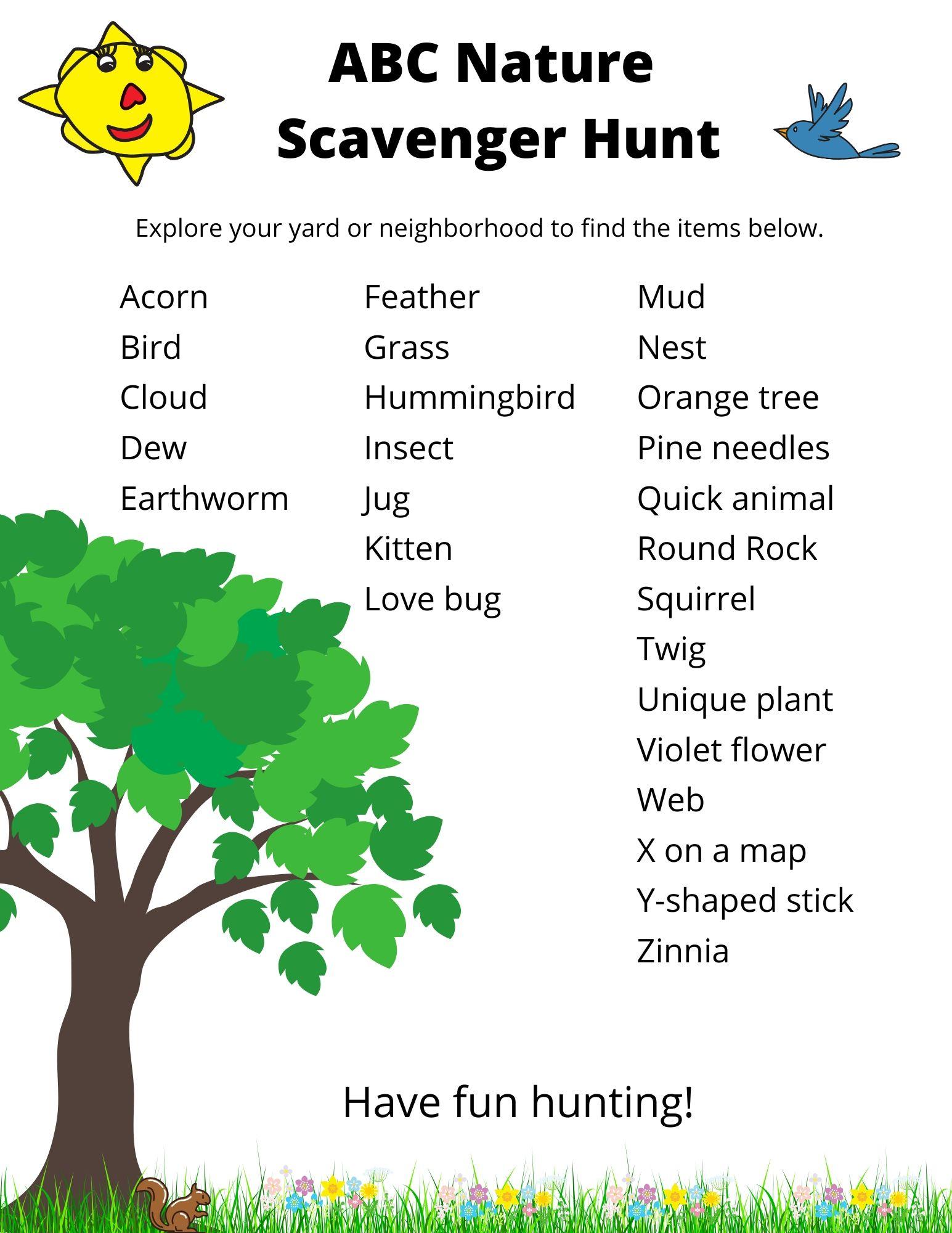 ABC Nature Scavenger Hunt (1)