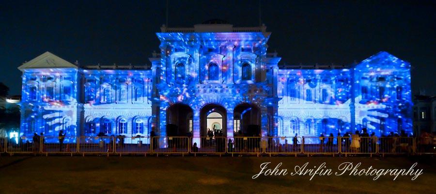 Singapore National Museum Night Festival Lightshow 2012