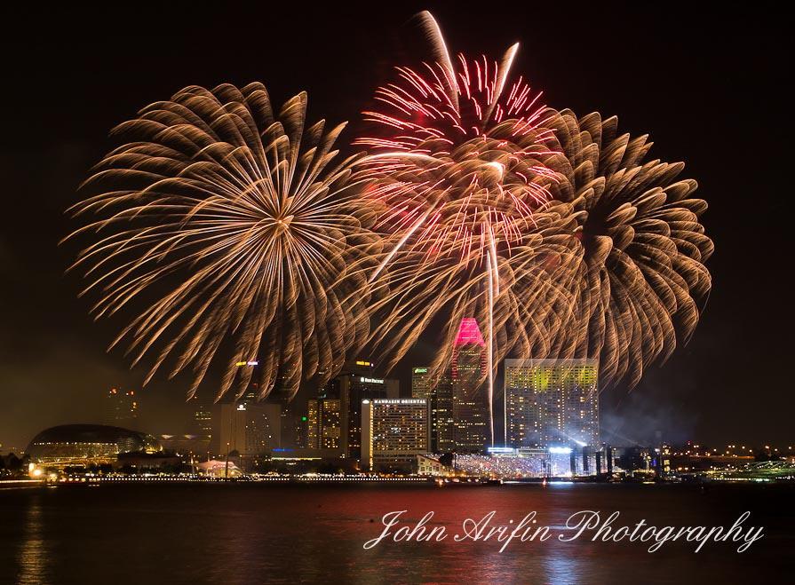 Singapore celebrates National Day with fireworks
