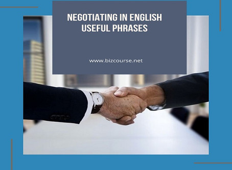 Negotiating in English - Useful Phrases