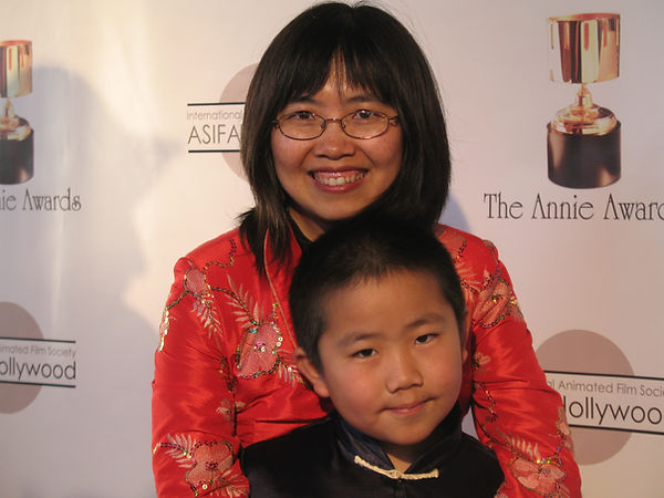 Perry & Zhu@ 2010 Annie Awards red carpe