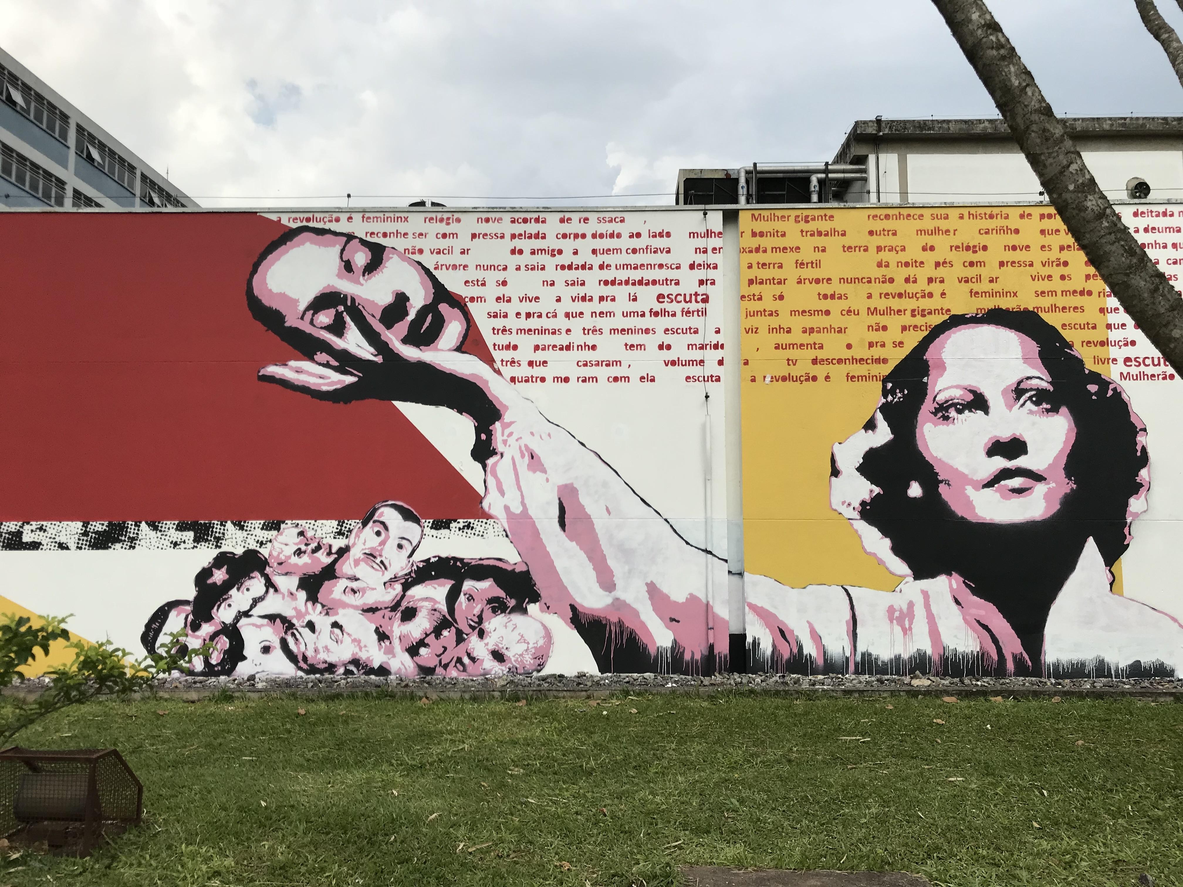George Sand. Usp Arte Urbana. Com Daniel Melim e Lau Guimaraes. Curadoria Baixo Ribeiro.