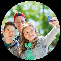 Bild einer Gruppe junger Menschen