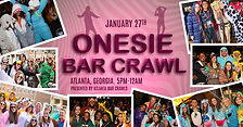 Onesie Bar Crawl, Onesie, Drinkin in your onesie, Atlanta Bar Crawls