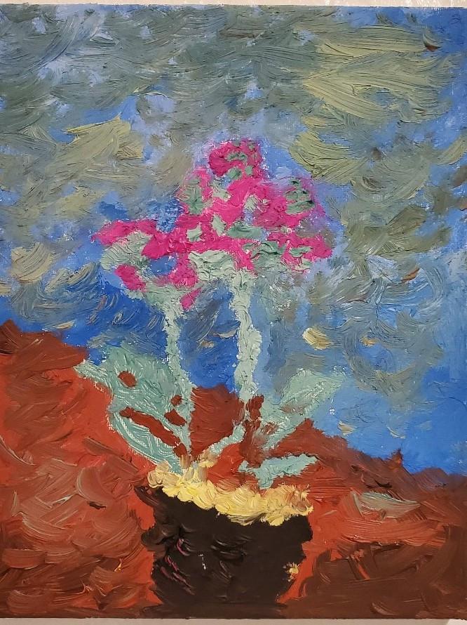 """Oil Painting by Matt Davis """"Orchids"""""""